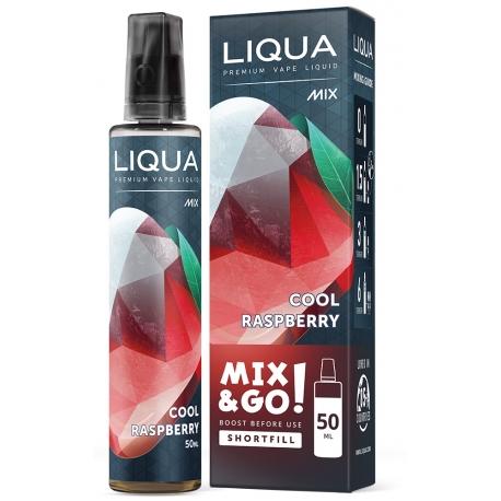 E-liquide LIQUA 50 ml Mix & Go Cool Raspberry / Framboise Glacée - LIQUA