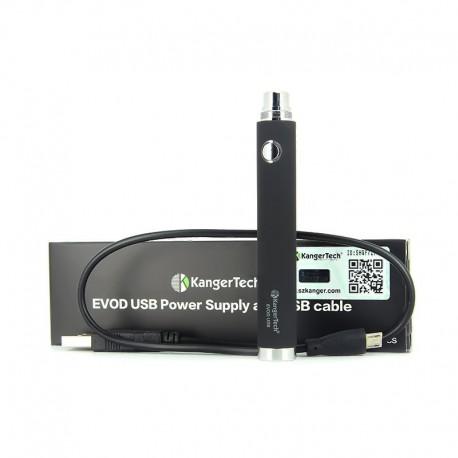 Batterie Kangertech EVOD USB 650 mAh Noir - LIQUA
